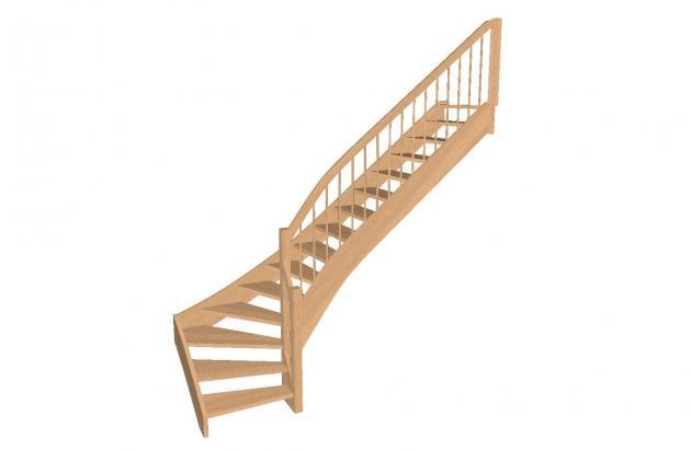 geschosstreppe 1 4. Black Bedroom Furniture Sets. Home Design Ideas
